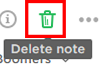 Delete notes you no longer need