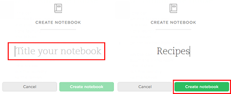 Choose a title for your notebook