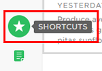 Click on the star to find your shortcuts