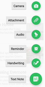 Use the + menu for more options regarding what you can do with your notes