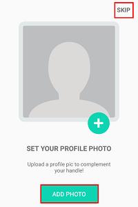 Add a profile picture.
