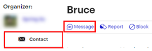 Click on the name of a users and click Message to send them a message