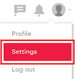 Click your profile picture and then Settings to access the settings