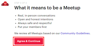 Click Agree & Continue to confirm the details of your group