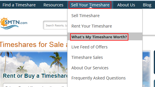 How to get a resale value estimate for your timeshare on SellMyTimeshareNow