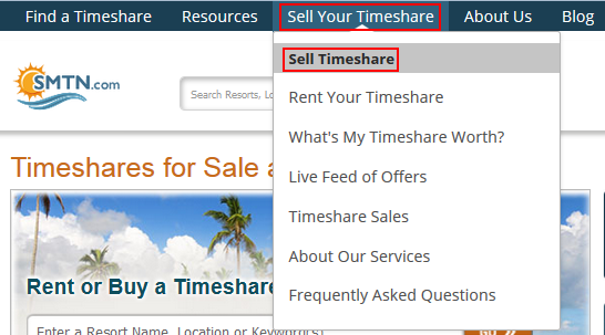 How to submit an inquiry into advertising your timeshare for sale on SellMyTimeshareNow