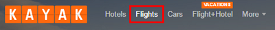 Click the top menu to change your search to Flights.