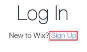 Sign up for a Wix account.