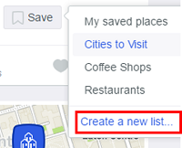 Create lists to sort your saved places and remember where you've been and what you liked.