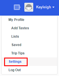 Access your Foursquare settings.