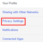 Click on a category to access specific settings.