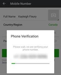 Verify phone number for WeChat