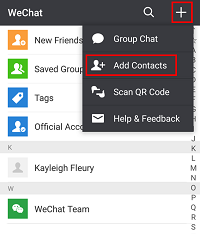 Add WeChat contacts