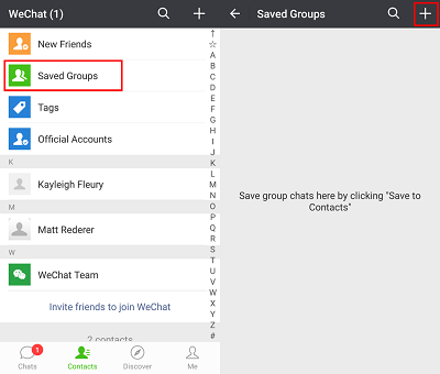 Create a WeChat group chat