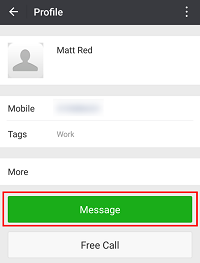 Message WeChat contacts