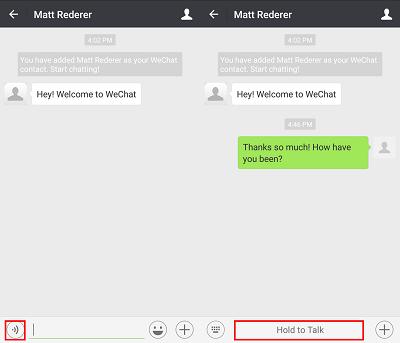 Send WeChat voice recording