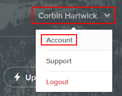 Access your Weebly account settings