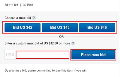 eBay maximum bids