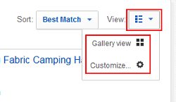 Switch between a gallery-style view and a list-style view