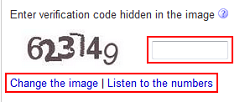 Input security code to see results for some advanced search criteria