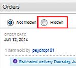 View hidden eBay orders
