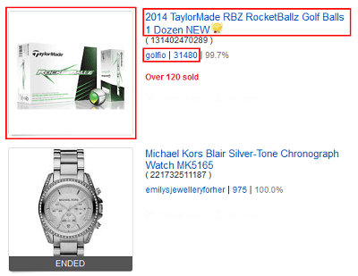 See item details by clicking on its name