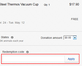 Type in your redemption code to get savings on eBay