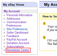 eBay Resolution Center
