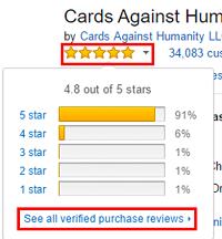 Amazon seller ratings