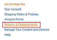 Amazon returns and replacements