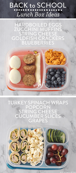 Pinterest pin of lunchbox ideas