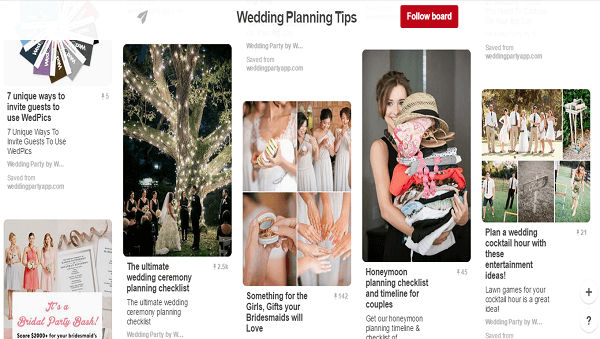 Pinterest party planning pins