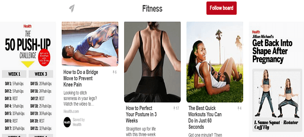 Pinterest fitness pins