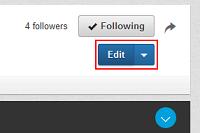 Edit LinkedIn Company Page button