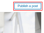 Publish Post button for LinkedIn Pulse
