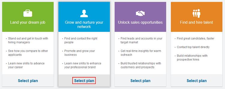 LinkedIn Premium plans