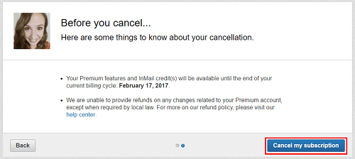 Complete cancellation of LinkedIn account