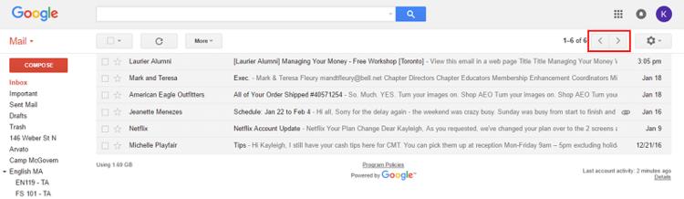 Gmail List Skip