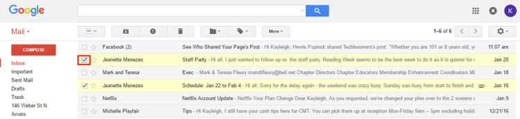 Gmail selector