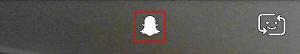 Snapchat menu icon