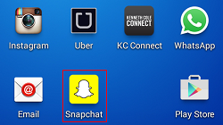 Launch Snapchat app icon