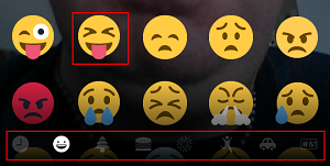 Snapchat add emojis screen