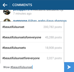 Add hashtags to your posts on Instagram