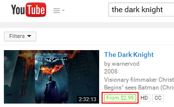 Example of a YouTube video that you can pay to watch
