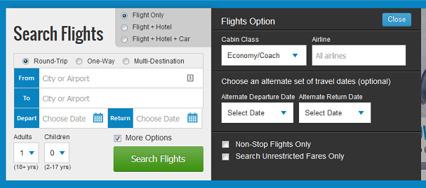 Priceline booking page