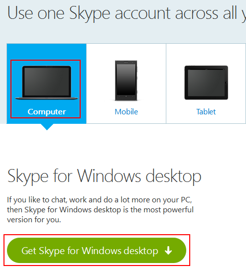 How to download Skype for your device of choice