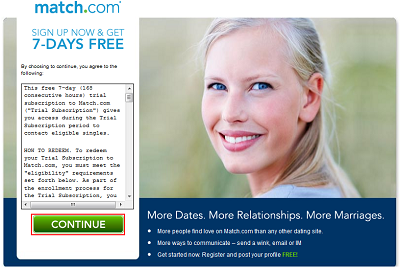 More information about Match.com trial