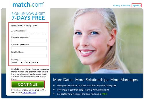 Match.com free trial