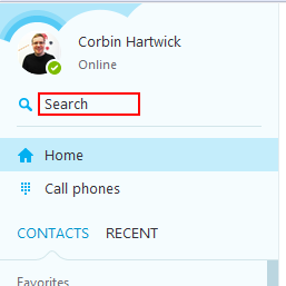 How to search for contacts on Skype