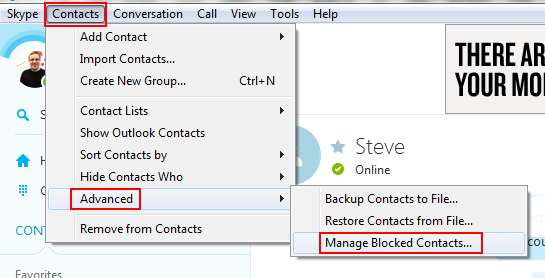 How to manage your blocked contacts on Skype
